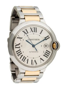 Cartier Men's Cartier Ballon Bleu Stainless Steel 18k Yellow Gold Watch 3001
