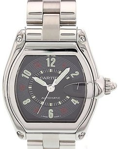 Cartier Mens Cartier Roadster Stainless Steel Automatic 2510 W Pouch