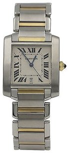 Cartier Mens Cartier Tank Francaise 18k Yellow Gold Stainless Steel 2302