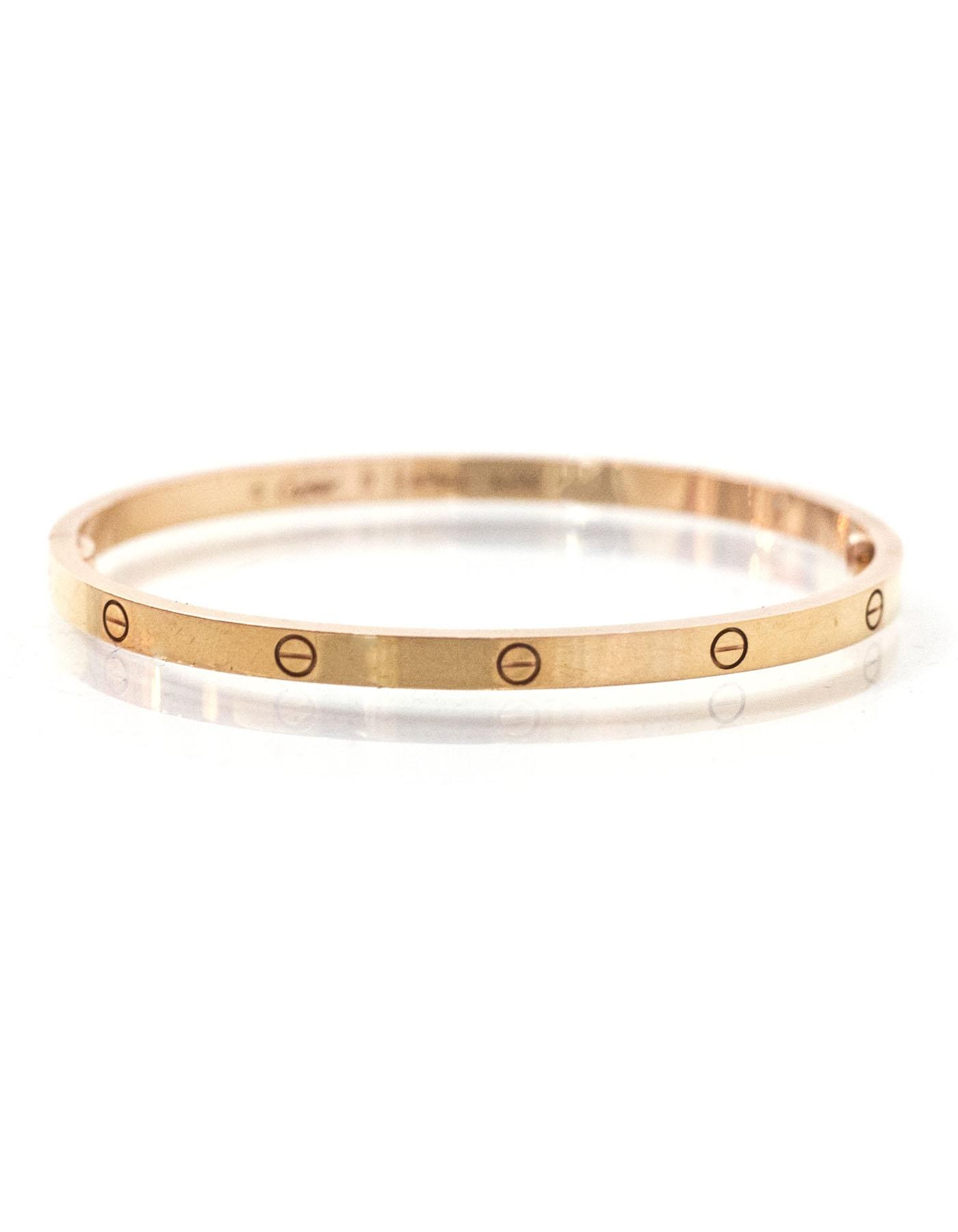 Cartier Pink Rose Gold Small Love with Box Case Bracelet Tradesy