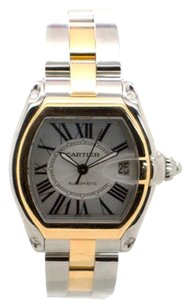 Cartier Cartier Roadster 18K Yellow Gold and Steel XL 18K Men's Watch W62031Y4