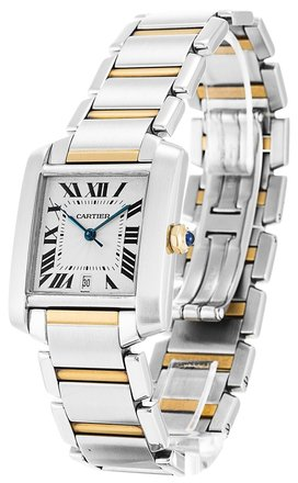 Cartier CARTIER TANK FRANCAISE W51005Q4 STEEL AND GOLD LADIES WATCH