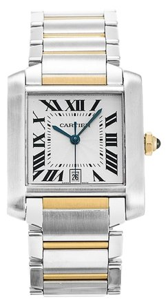 Cartier CARTIER TANK FRANCAISE W51005Q4 STEEL AND YELLOW GOLD MEN'S WATCH