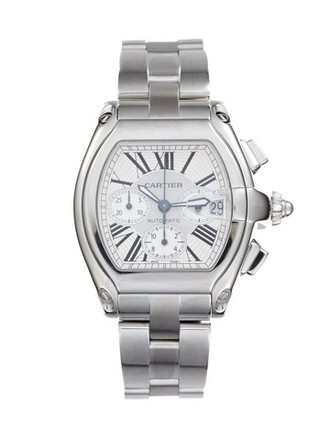 Cartier Cartier Roadster Chronograph Stainless Steel Silver Dial Men's Watch.