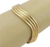 Cartier Vintage Cartier 18k Yellow Gold Multi Row Wavy Bangle Cuff