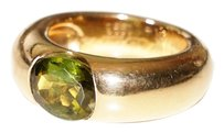 Cartier Vintage CARTIER Oversized Peridot Elipse 18k Yellow Gold Ring