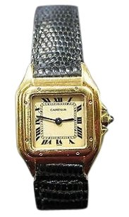 Cartier Vintage Cartier Tank 18kt Yellow Gold Deployment Clasp Wrist Watch