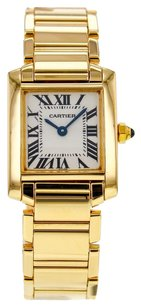 Cartier Women's Small Tank Francaise W50002N2 18K Yellow Gold Watch CRTTFY18
