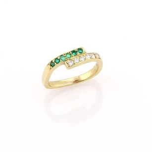 Cartier Vintage,Cartier,18kt,Yellow,Gold,Diamond,Emerald,Wrap,Style,Ring