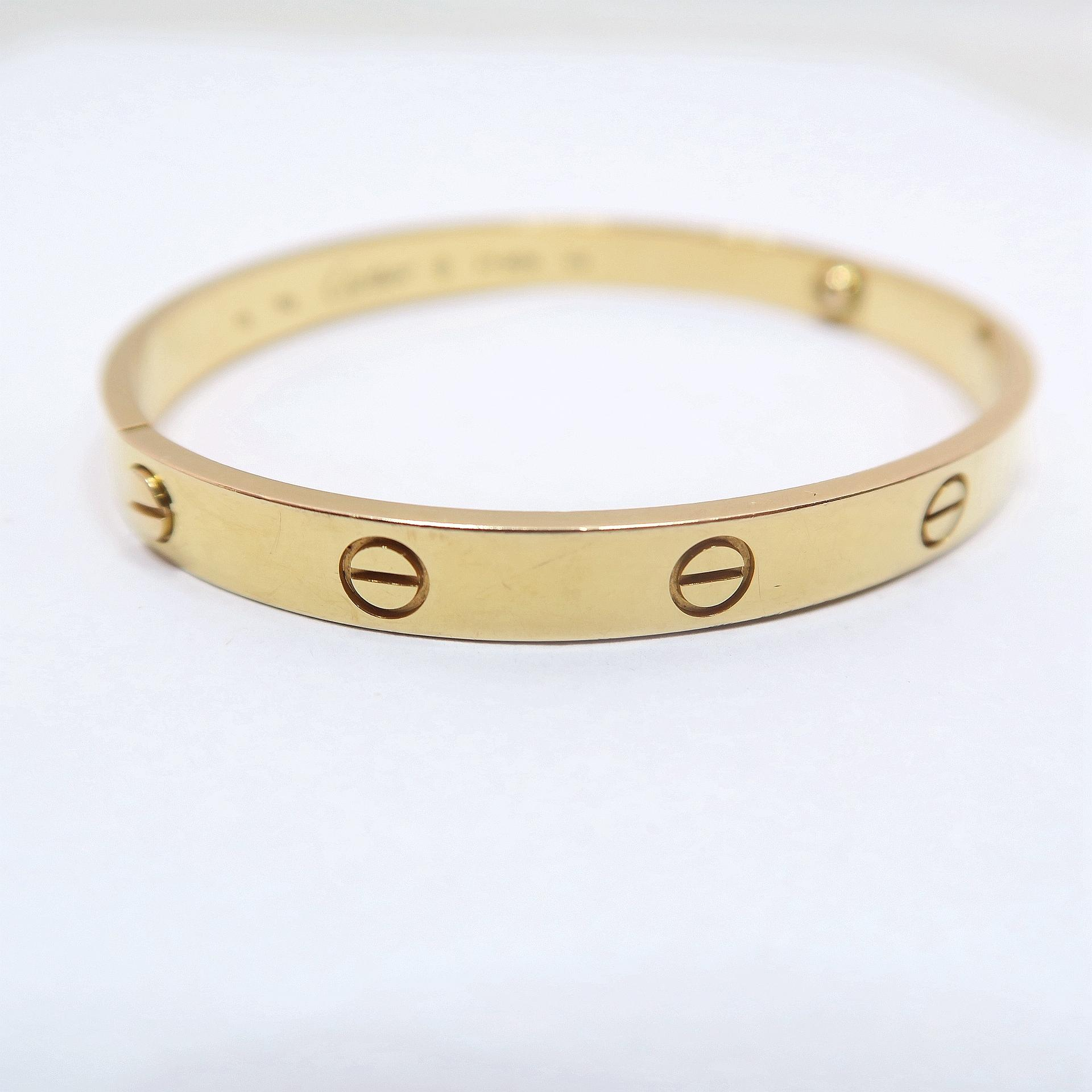 cartier bracelet sizes cartier yellow gold size 19 bracelet tradesy 7887