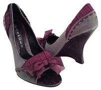 Casadei New Gray Purple Gray/Purple Platforms