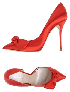 Casadei Satin Pump Date Night Red Pumps