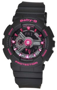 Casio Baby-G Analog-Digital Dial Black Resin Ladies Watch, BA111-1A