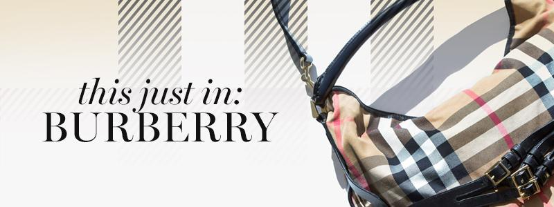 Just In: Burberry