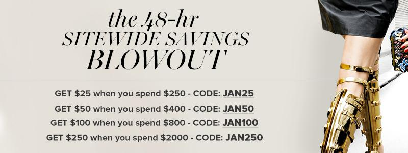 The 48-Hour Sitewide Savings Blowout
