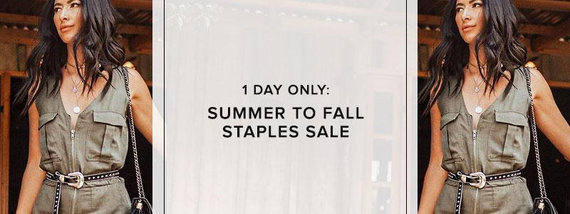 Summer To Fall Staples Sale