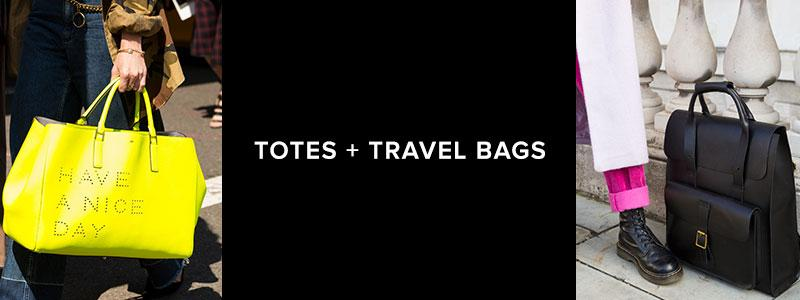 Totes + Travel Bags