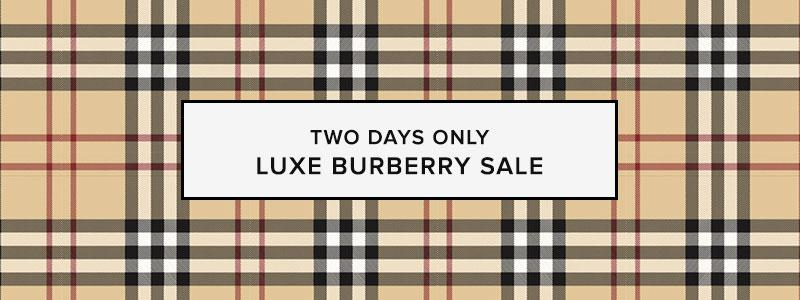 Luxe Burberry Sale