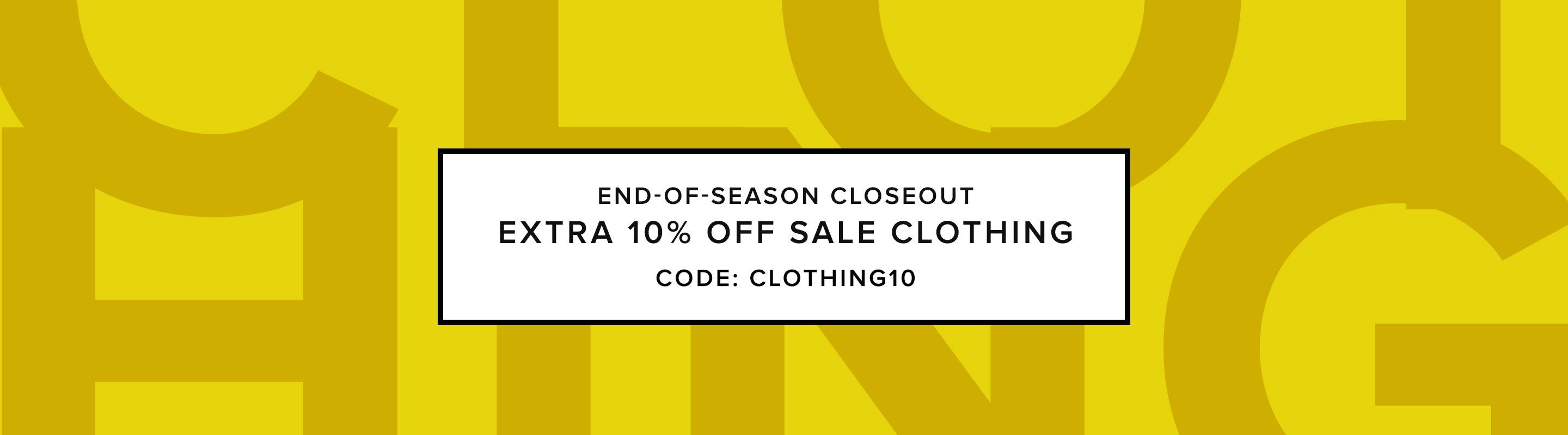 End-of-Season Closeout: Clothing