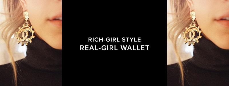 Rich Girl Style, Real Girl Wallet