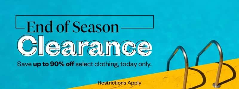 End-of-Season Clearance: Clothing