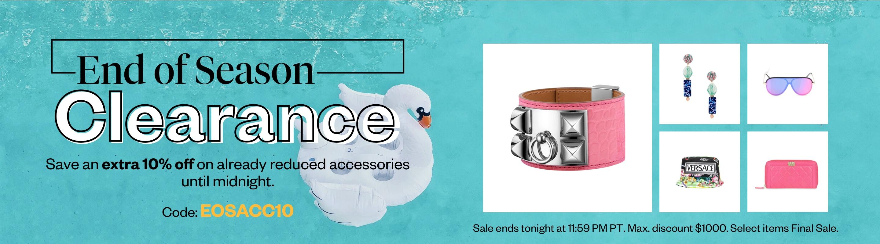 End Of Season Clearance: Accessories
