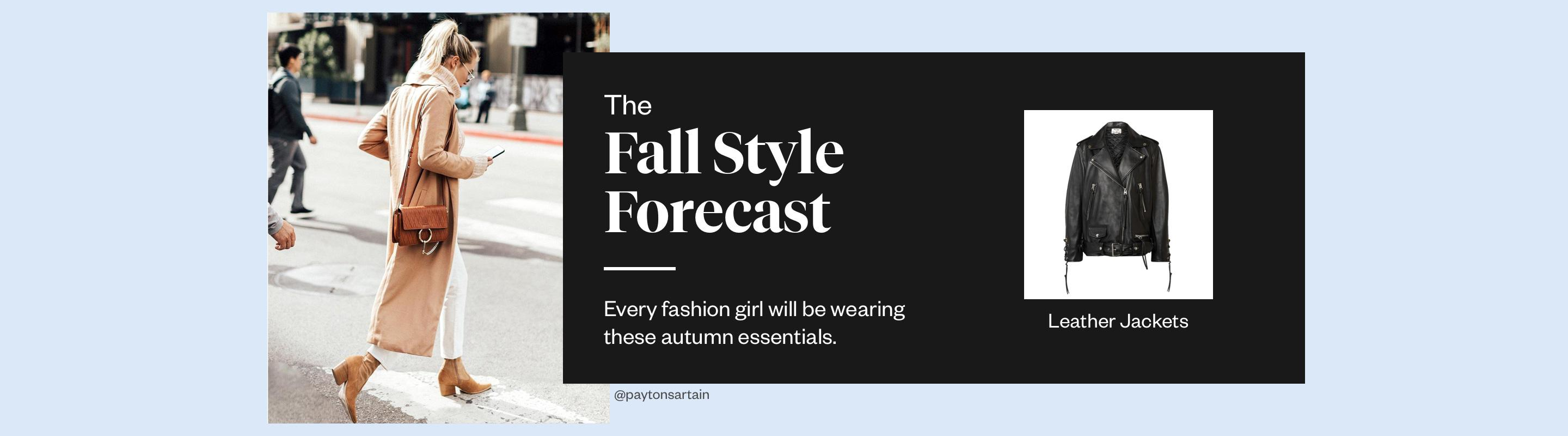 The Fall Style Forecast: Leather Jackets