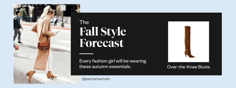 The Fall Style Forecast: OTK Boots