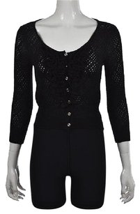 Catherine Malandrino Womens Cardigan Scoop Neck Sweater