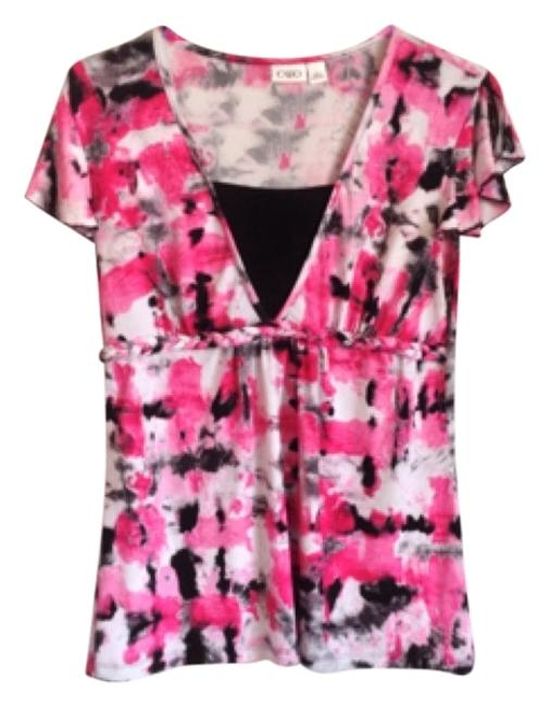 Preload https://item1.tradesy.com/images/cato-white-black-pink-and-dark-pink-blouse-size-12-l-10584640-0-1.jpg?width=400&height=650