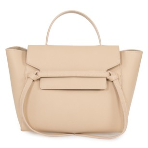 Cline Celine Belt Grained Tote in Beige