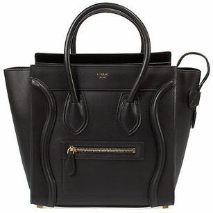 Céline Celine Micro Luggage Tote in Black