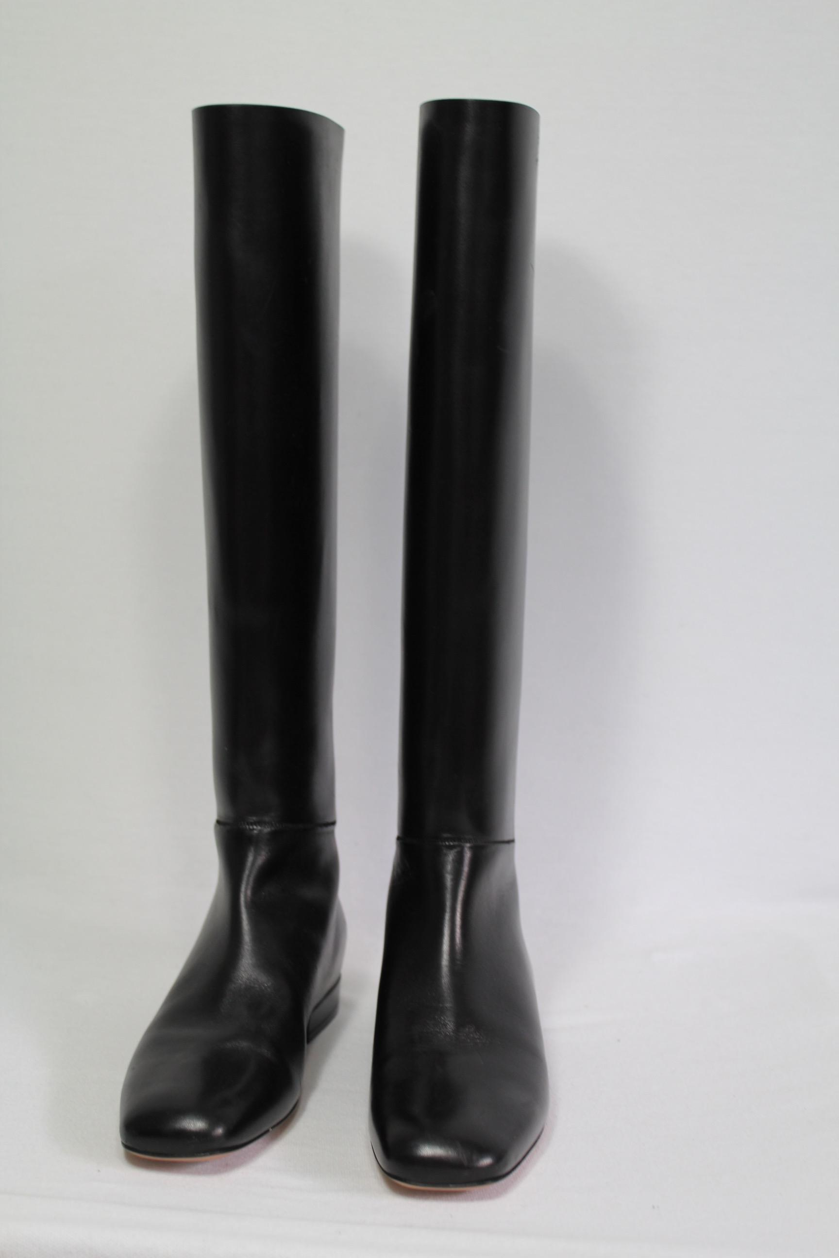 Céline Knee-High Leather Boots buy cheap order ebay sale online collections cheap price best place to buy online ytJZUEH3