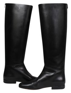 Cline Boot Leather Fall Winter Tall Black Boots