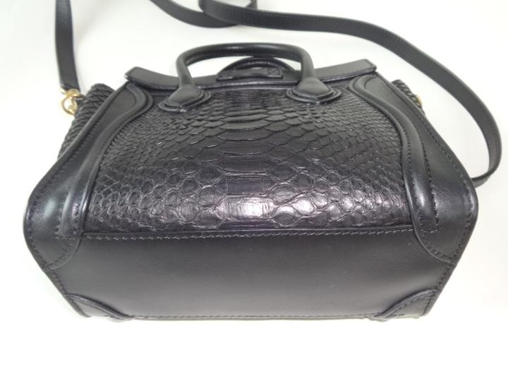 how much is a celine bag - C��line Python Leather Nano Tote Great Condition. Black Cross Body ...