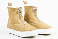 Cline Celine Camel Suede Shearling Tan Athletic