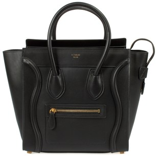 Cline Nano Smooth Calf Luggage Satchel in black