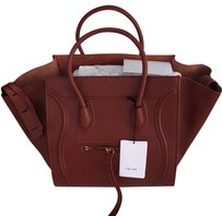 Céline Satchel in burgundy