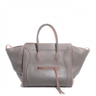 Cline Satchel in Grey with Orange Details