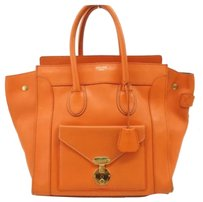 Céline Celine Shopper Tote Satchel in Orange