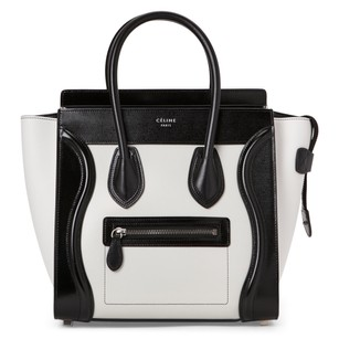 Cline Tote in White & Black