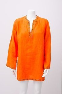 Cline short dress Orange Celine Brass Grommet on Tradesy