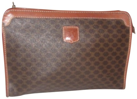 Preload https://item1.tradesy.com/images/celine-vintage-pursesdesigner-purses-dark-brown-in-macadam-print-coated-canvas-and-pacan-colored-lea-23339380-0-1.jpg?width=440&height=440