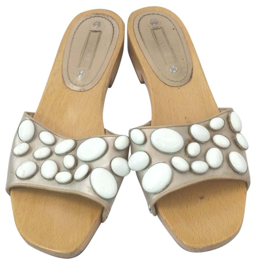 quality free shipping for sale top quality Céline Embellished Slide Sandals cheap brand new unisex k3LsXaI