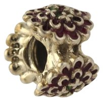 Chamilia Chamilia 2020-0652 Bead Charm - Sterling Silver Blooming Zinnia Burgundy