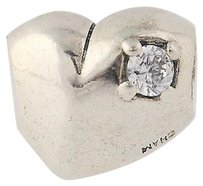 Chamilia Chamilia Bead - Ja-20 Stone Of Heart Clear Crystal Sterling Silver Charm