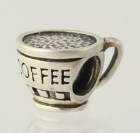 Chamilia Genuine Chamilia Bead - Sterling Silver 925 Ga-39 Coffee Cup Womens Estate