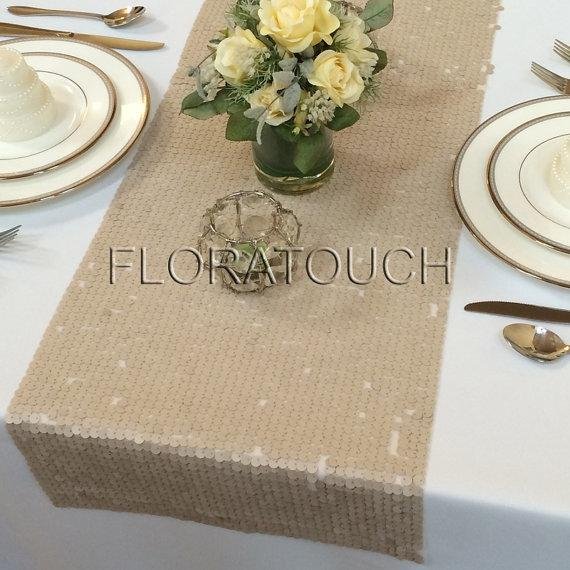 Champagne Table Runner 108