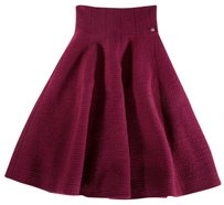 Chanel 34 Cranberry Fit Ias Skirt