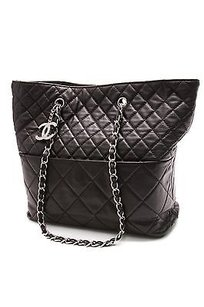 Chanel Quilted Calfskin In The Business Northsouth Tote in Black